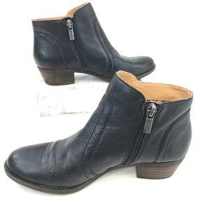 Lucky Brand Shoes - Lucky Brand Black Genuine Leather Heeled Booties 6